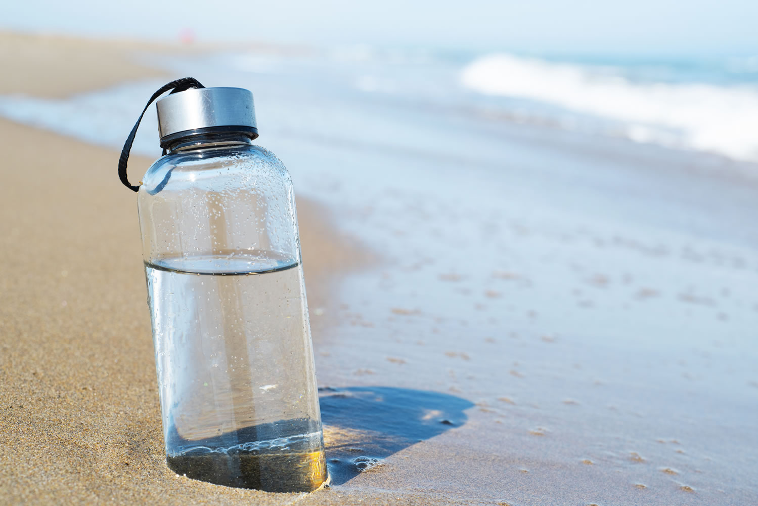 A Glass Bottle Water A Beach And The Vast Vast Ocean Audio Meditation Com